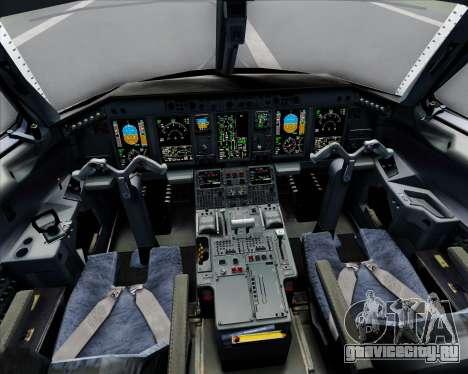 Embraer E-190 Virgin Blue для GTA San Andreas салон