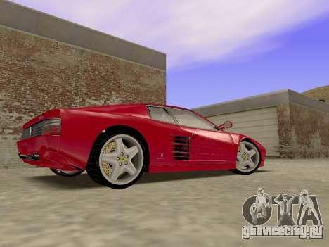 Ferrari 512TR для GTA San Andreas вид сзади слева