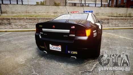 GTA V Cheval Fugitive LS Police [ELS] для GTA 4 вид сзади слева