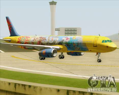 Airbus A321-200 для GTA San Andreas вид сзади
