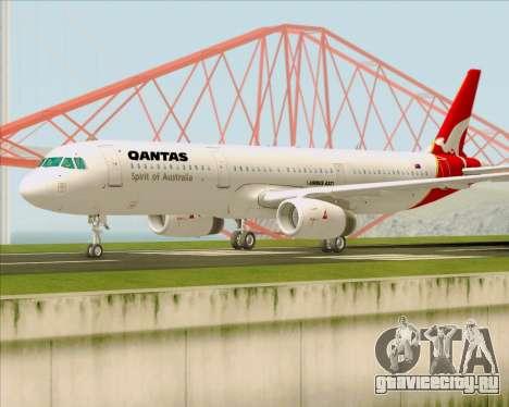 Airbus A321-200 Qantas для GTA San Andreas вид слева