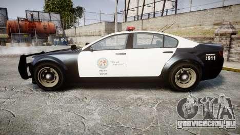 GTA V Cheval Fugitive LS Police [ELS] для GTA 4 вид слева