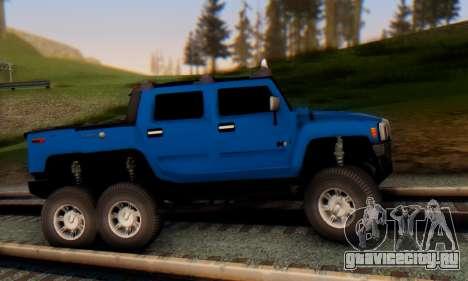 Hummer H6 Sut Pickup для GTA San Andreas вид сзади слева