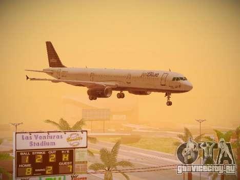 Airbus A321-232 jetBlue Woo-Hoo jetBlue для GTA San Andreas вид сбоку