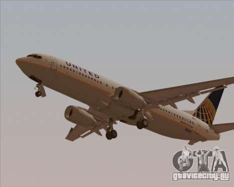 Boeing 737-824 United Airlines для GTA San Andreas двигатель
