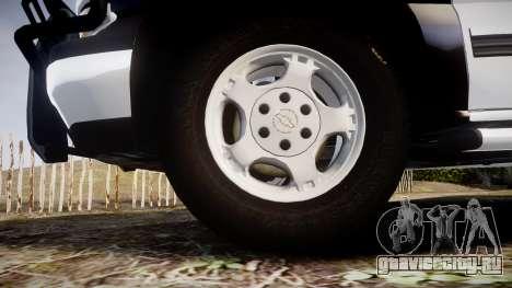 Chevrolet Silverado SWAT [ELS] для GTA 4 вид сзади