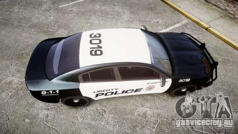 Dodge Charger 2015 LPD CHGR [ELS] для GTA 4 вид справа