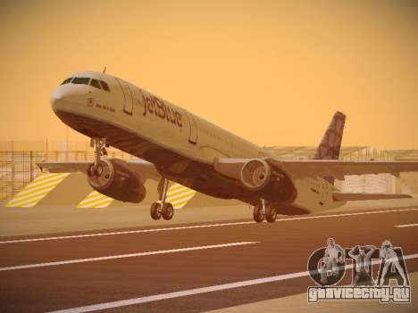 Airbus A321-232 jetBlue Blue Kid in the Town для GTA San Andreas
