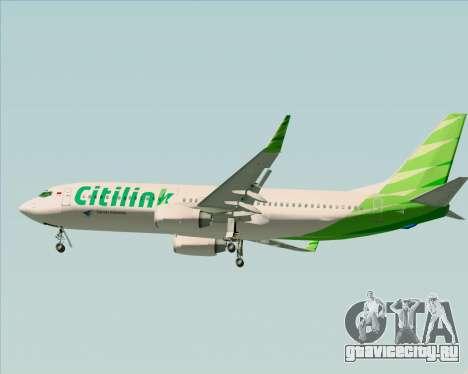 Boeing 737-800 Citilink для GTA San Andreas салон