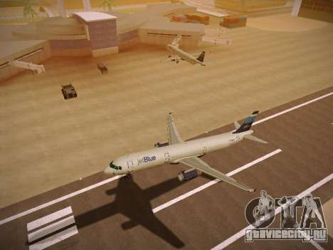 Airbus A321-232 Big Blue Bus для GTA San Andreas вид сзади