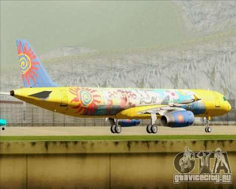 Airbus A321-200 для GTA San Andreas вид сбоку