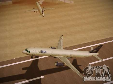 Airbus A321-232 jetBlue Woo-Hoo jetBlue для GTA San Andreas вид сзади