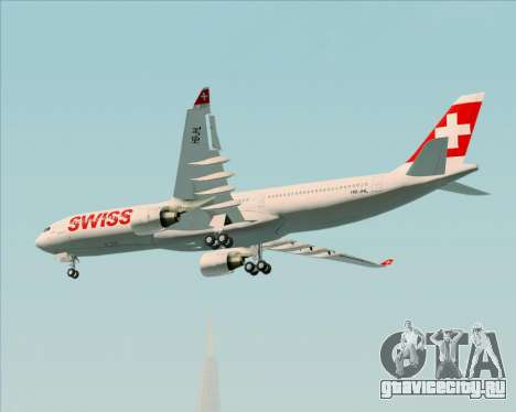 Airbus A330-300X Swiss International Air Lines для GTA San Andreas вид изнутри