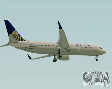Boeing 737-824 United Airlines для GTA San Andreas вид справа