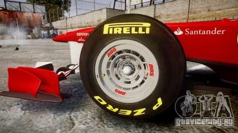 Ferrari 150 Italia Alonso для GTA 4 вид изнутри
