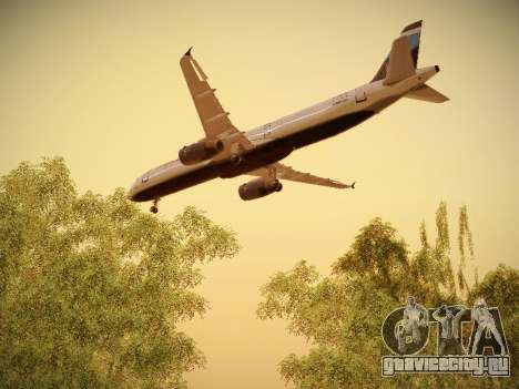 Airbus A321-232 Big Blue Bus для GTA San Andreas вид снизу