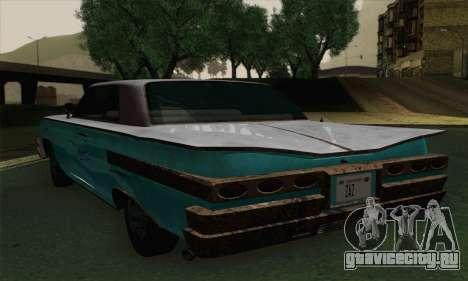 Declasse Voodoo для GTA San Andreas вид сзади слева