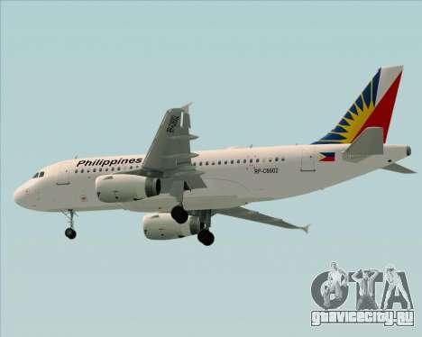 Airbus A319-112 Philippine Airlines для GTA San Andreas вид сзади