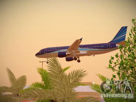 Airbus A320-214 Azerbaijan Airlines AZAL для GTA San Andreas вид сбоку