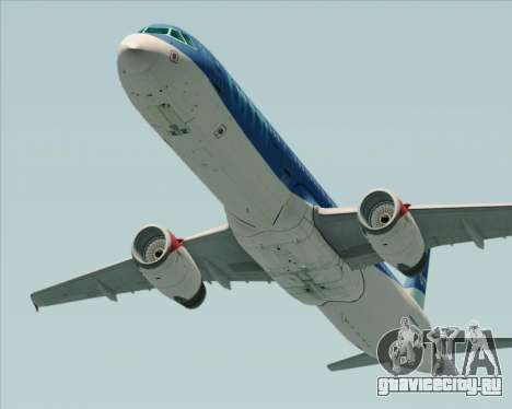 Airbus A321-200 British Midland International для GTA San Andreas вид сзади слева