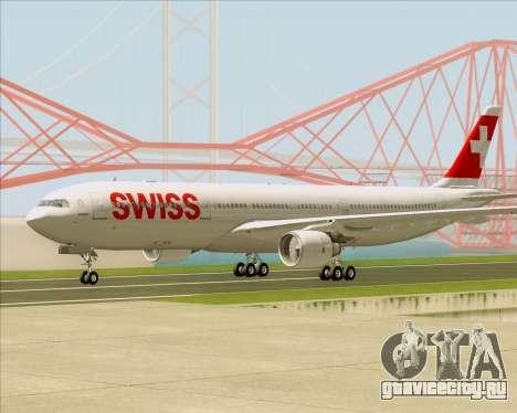 Airbus A330-300X Swiss International Air Lines для GTA San Andreas вид справа