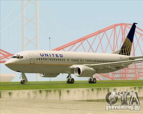 Boeing 737-824 United Airlines для GTA San Andreas вид изнутри