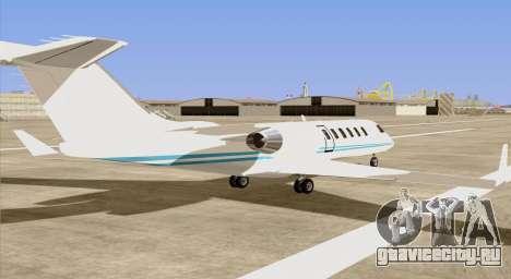 Buckingham Shamal GTA V для GTA San Andreas вид слева