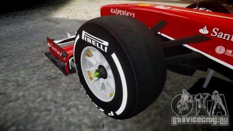 Ferrari F138 v2.0 [RIV] Alonso TMD для GTA 4 вид сзади