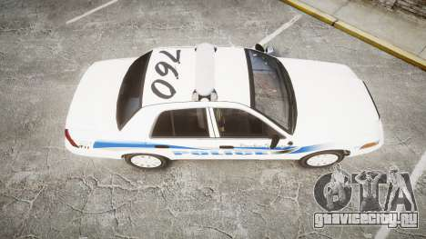 Ford Crown Victoria PS Police [ELS] для GTA 4 вид справа