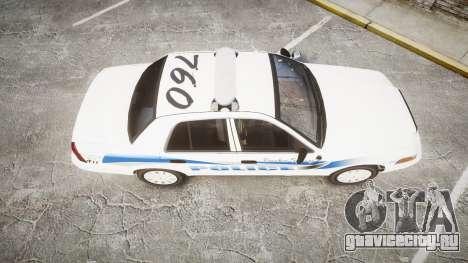 Ford Crown Victoria PS Police [ELS] для GTA 4 вид справа