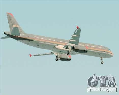 Airbus A321-200 Royal Jordanian Airlines для GTA San Andreas вид сзади