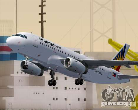 Airbus A319-112 Philippine Airlines для GTA San Andreas колёса