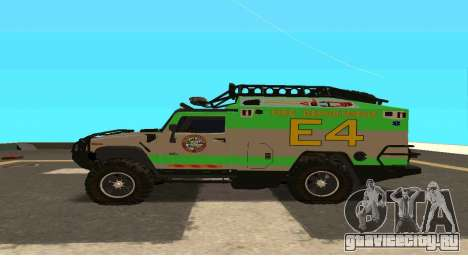 Hummer H2 Ratchet Transformers 4 для GTA San Andreas вид слева