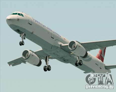 Airbus A321-200 Turkish Airlines для GTA San Andreas вид сбоку