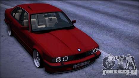 BMW 525i E34 для GTA San Andreas вид изнутри