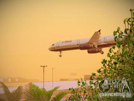 Airbus A321-232 jetBlue Woo-Hoo jetBlue для GTA San Andreas вид сверху