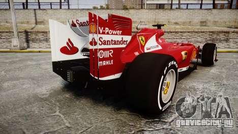 Ferrari F138 v2.0 [RIV] Massa TMD для GTA 4 вид сзади слева