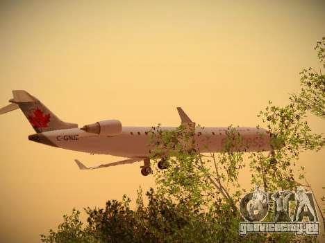 Bombardier CRJ-700 Air Canada Express для GTA San Andreas вид сзади слева