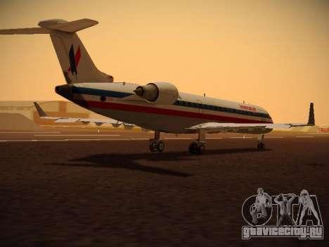 Bombardier CRJ-700 American Eagle для GTA San Andreas вид сзади