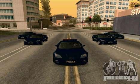 FCPD Chevrolet Corvette Z06 для GTA San Andreas вид сзади слева