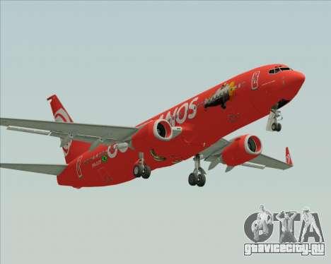 Boeing 737-800 Gol Transportes Aéreos для GTA San Andreas вид слева