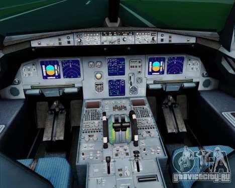 Airbus A321-200 Myanmar Airways International для GTA San Andreas салон