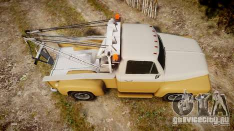 Vapid Tow Truck Jackrabbit v2 для GTA 4 вид справа