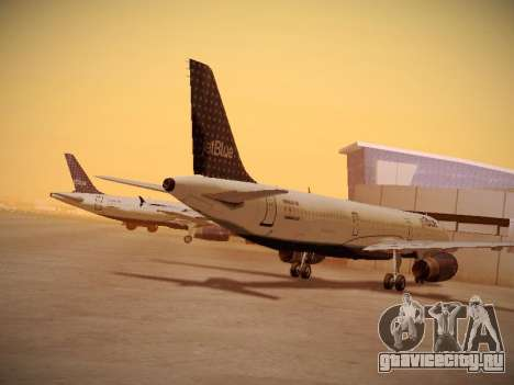 Airbus A321-232 jetBlue Woo-Hoo jetBlue для GTA San Andreas вид сзади слева