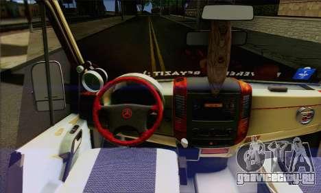 Mercedes-Benz Sprinter для GTA San Andreas вид сзади слева