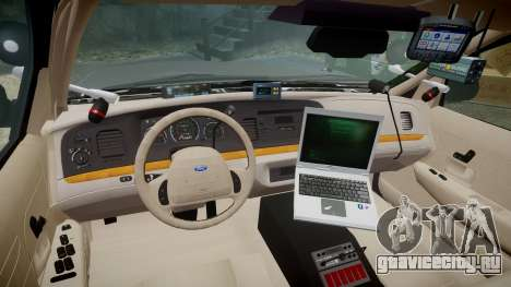 Ford Crown Victoria LASD [ELS] Unmarked для GTA 4 вид сзади