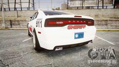 Dodge Charger RT 2013 LC Sheriff [ELS] для GTA 4 вид сзади слева