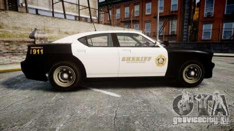 GTA V Bravado Buffalo LS Sheriff Black [ELS] Sli для GTA 4 вид слева