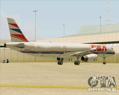 Airbus A321-200 CSA Czech Airlines для GTA San Andreas двигатель
