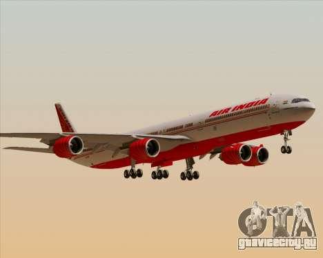 Airbus A340-600 Air India для GTA San Andreas вид снизу